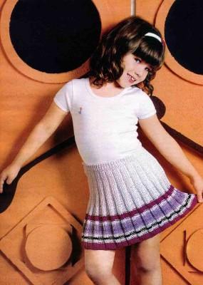 Детская юбка плиссе, фото