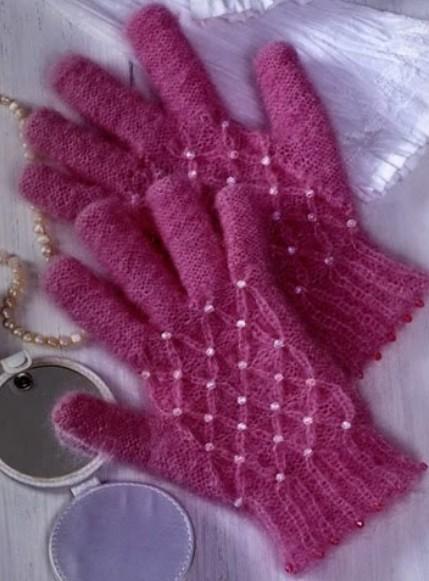 Как вязать детские перчатки спицами