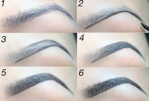 Как красить брови правильно