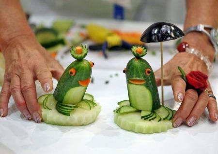 поделки из овощей фото с инструкцией