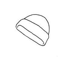 Рисунок шапки с отворотом, фото