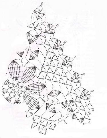 Салфетка мотив схема, фото
