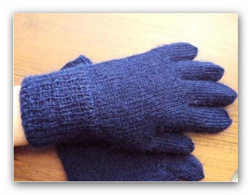 Перчатки для детей пятью спицами