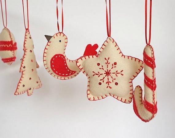 Новогоднее игрушки своими руками из ткани