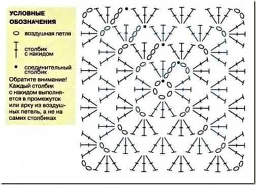 Салфетка в форме квадрата