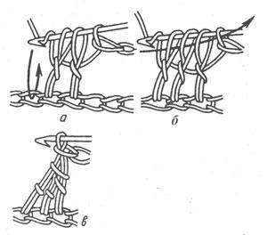 Незаконченные столбики с накидом