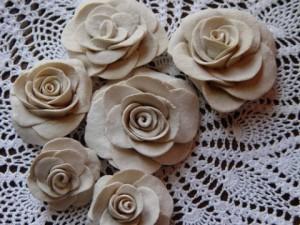 Цветы из теста