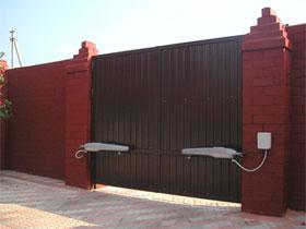 Автоматические ворота для частного дома, фото