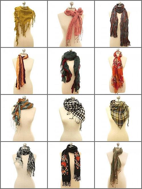 Как красиво завязать шарф на шее, фото