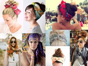Как красиво завязывать платок на голове, фото