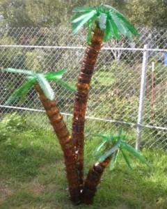 Как сделать пальму из пластиковых бутылок, фото