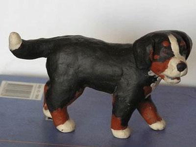Собака из пластилина с фото
