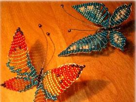 Как сплести бабочку из бисера, фото