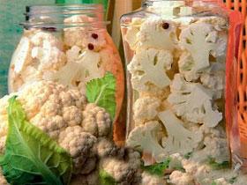 Консервирования цветной капусты, фото