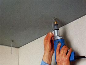 Монтаж подвесных потолков из гипсокартона, фото
