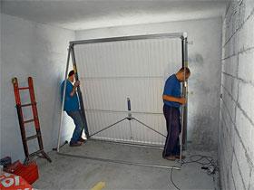 Монтаж ворот, фото