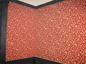 Отделка стен тканью, фотография