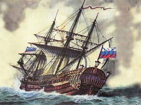 Первый русский корабль Орел, фото судна