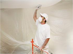 Подготовка потолка к покраске, фото