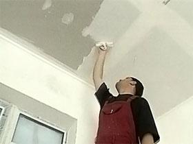 Шпаклевка потолка из гипсокартона, фото