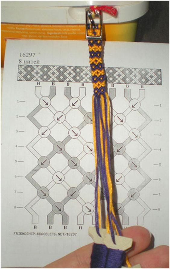Схема плетения ниток мулине 5,
