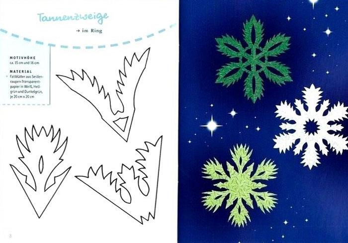 Схемы необычных и прикольных бумажных снежинок, фото
