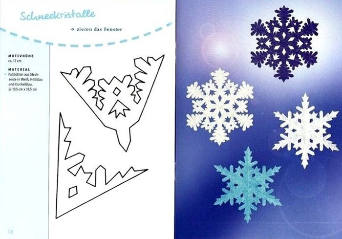 Схемы вырезания снежинок из простой бумаги, фото
