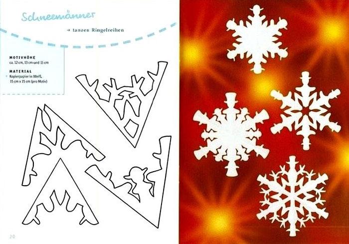 Снежинки из бумаги схемы, фото