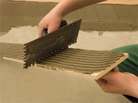 Состав плиточного клея, фото