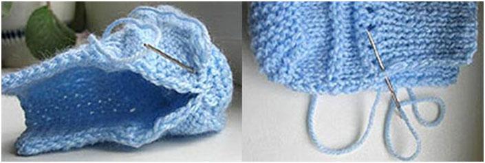 Сшивания шва пинетки, фото
