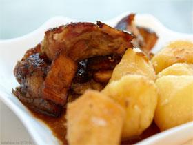 Свиная лопaтка с дыней, фото