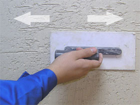 Технология нанесения короед штукатурки, фото
