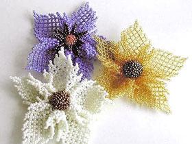 Цветы из бисера для  начинающих, фото