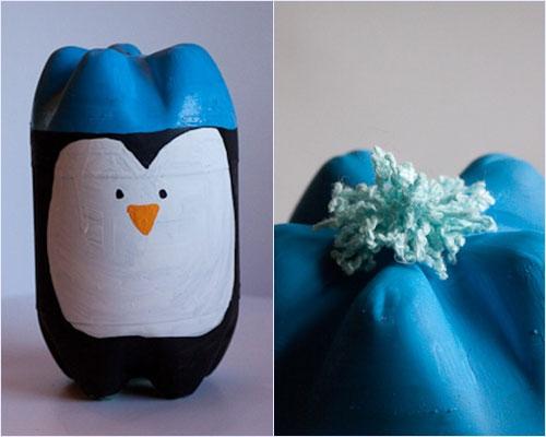 Поделки из пластиковых бутылок пингвины пошаговая инструкция