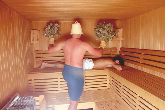 Банник в сауне или бане