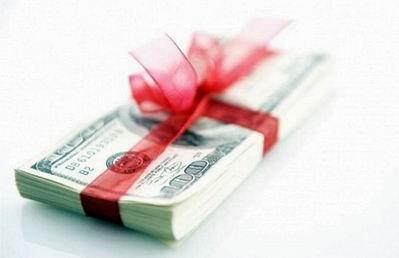 Вознаграждение от банка в %