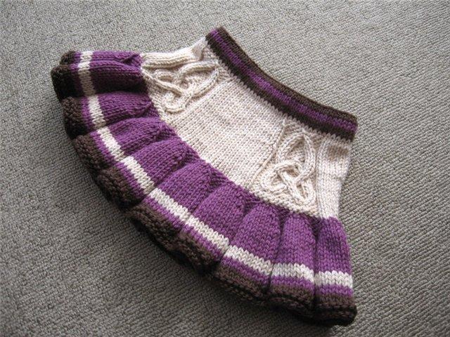 Вяжем юбку спицами для девочки, фото
