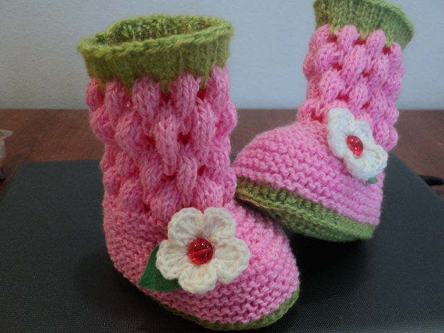 Как вязать детские носки крючком, фото
