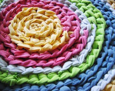 Как вязать коврики крючком из ткани, фото