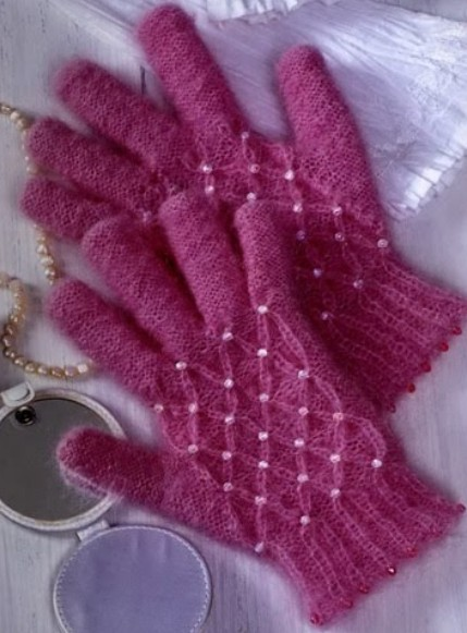 Как вязать красивые перчатки спицами, фото