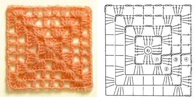 -вязать-крючком-квадраты Как вязать квадрат крючком: 10 вариантов со схемами и описанием...