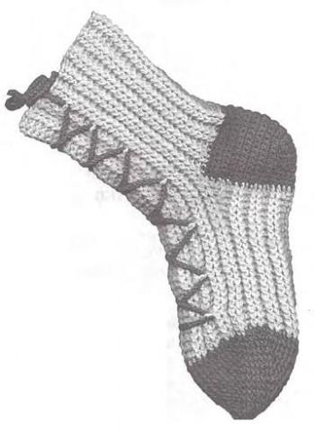Как вязать носки крючком с манжетами, фото