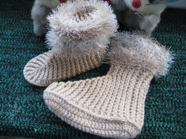 Как вязать носки крючком, фото