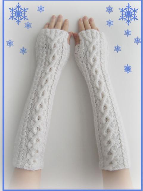Как вязать перчатки спицами без пальцев, фото