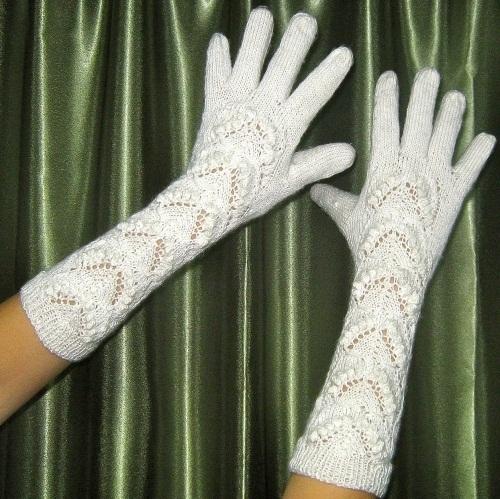 Как вязать перчатки спицами, фото