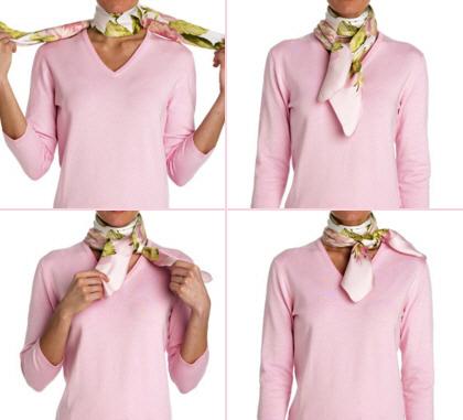 Как правильно завязать на шее шарф на европейский узел