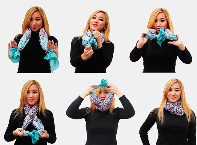 Как правильно завязать на шее шарф