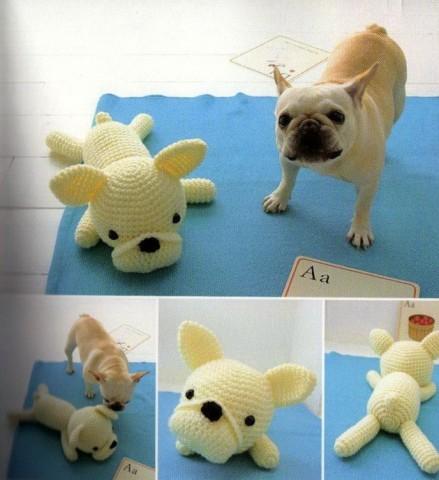 Как связать игрушку - собачку, фото