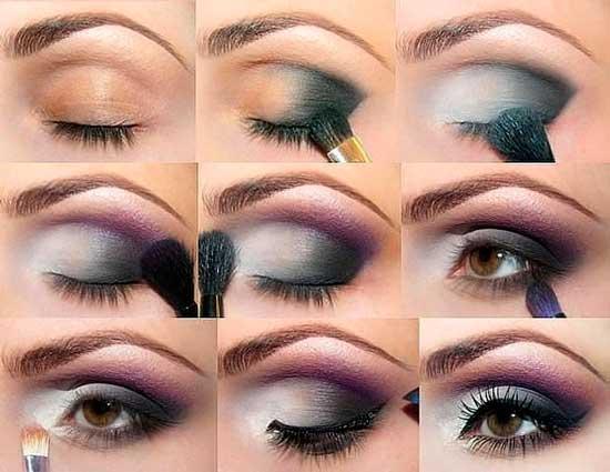 Метод нанесения теней на глаз