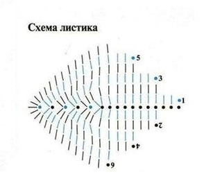 Схема листочка, фото